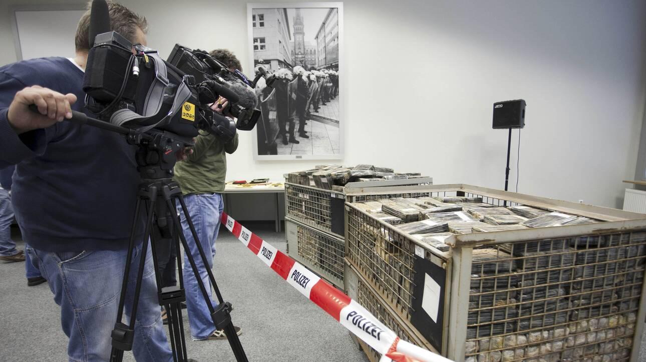 Κατασχέθηκε ποσότητα κοκαΐνης-μαμούθ αξίας 600 εκατ. ευρώ λίγο πριν καταλήξει στην Ολλανδία