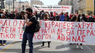 Σε εξέλιξη το πανεκπαιδευτικό συλλαλητήριο στα Προπύλαια