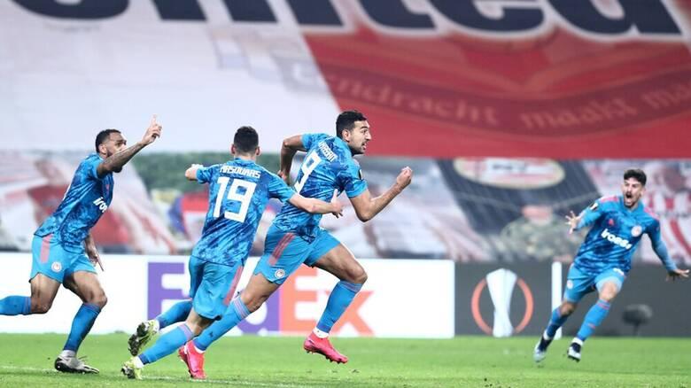 Αϊντχόφεν-Ολυμπιακός 2-1: Πρόκριση με γκολ του Χασάν