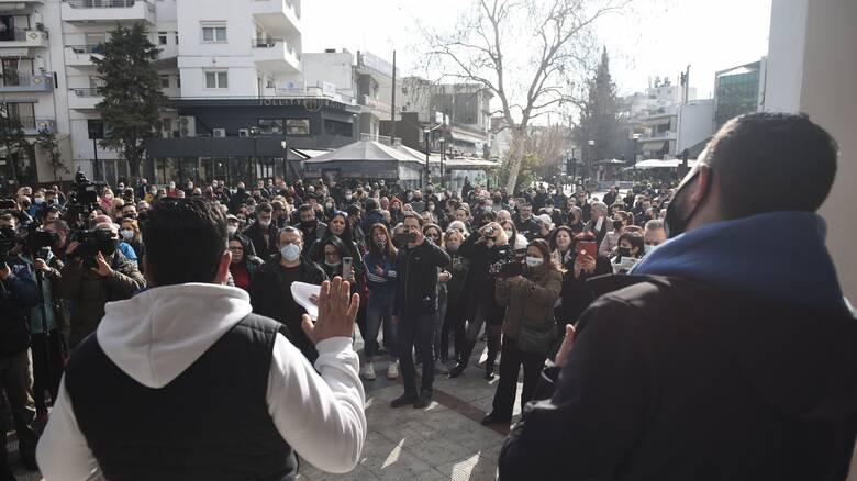 Θεσσαλονίκη: Διαμαρτυρία κατοίκων του Δήμου Κορδελιού - Ευόσμου για την παράταση του lockdown