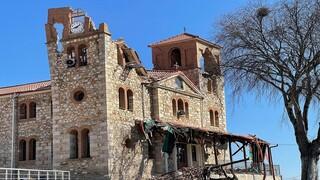 Σεισμός Ελασσόνα: Ζημιές στο ναό του Αγ. Νικολάου Τυρνάβου και Αγ. Δημητρίου Μεσοχωρίου