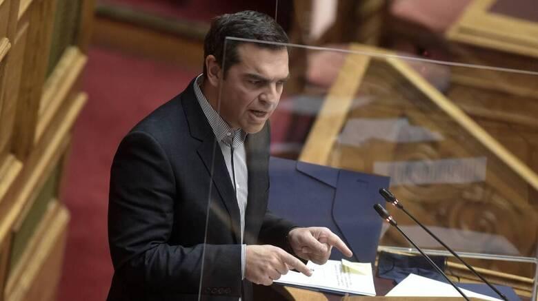 Παρέμβαση Τσίπρα στη Βουλή