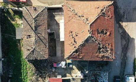 Το Δαμάσι από ψηλά - Πανοραμικές εικόνες που μαρτυρούν την καταστροφή