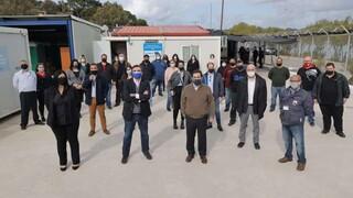 «Η Ευρώπη δίπλα στην Ελλάδα»: Στο ΚΥΤ Λέρου ο Μ.Σχοινάς με τον Νότη Μηταράκη