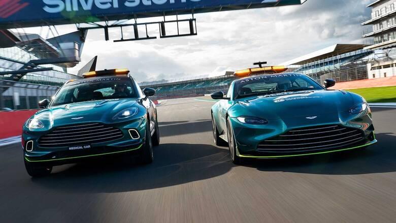 Στην F1 η Aston Martin συνεργάζεται με τη Mercedes και στα αυτοκίνητα ασφαλείας και των γιατρών