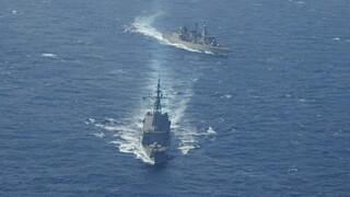 Φρεγάτα «Ψαρά»: Συνεκπαίδευση με μαχητικά και ΝΑΤΟϊκές μονάδες δυτικά της Κρήτης