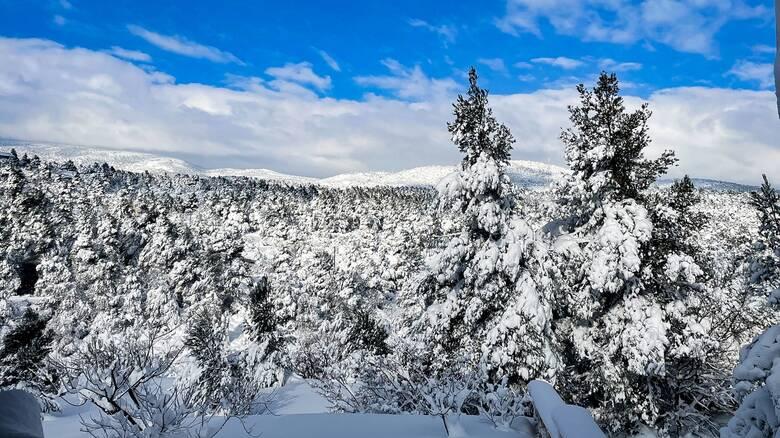 Καιρός: Χιόνια στην ορεινή Χαλκιδική και πτώση της θερμοκρασίας σε όλη τη Β. Ελλάδα