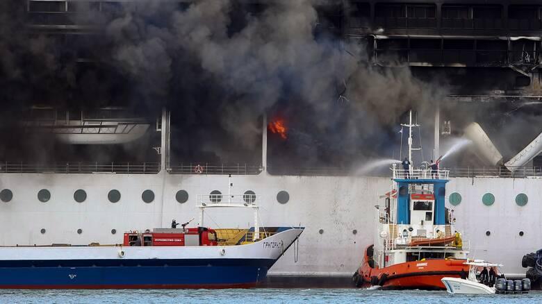 Κέρκυρα: Συγκλονιστικές εικόνες από την πυρκαγιά στο κρουαζιερόπλοιο