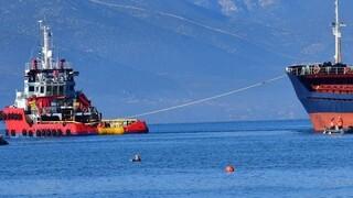 Δυτικά των Κυθήρων παραμένουν τα δύο φορτηγά πλοία που συγκρούστηκαν το πρωί