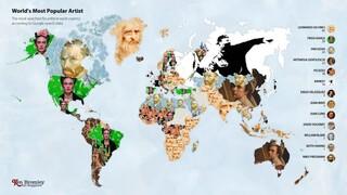 Οι πιο δημοφιλείς σε αναζητήσεις στο Google για εικαστικούς καλλιτέχνες