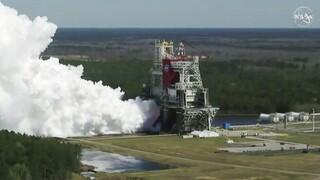 Επιστροφή στη Σελήνη; Εντυπωσιακή δοκιμή κινητήρων για το SLS της NASA