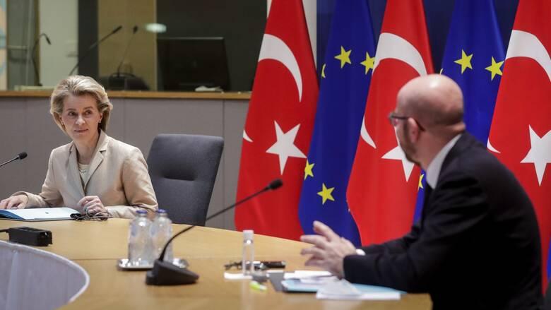 Διαρκή αποκλιμάκωση ζήτησαν Φον ντερ Λάιεν και Μισέλ από τον Ερντογάν