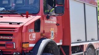 Μεγάλη πυρκαγιά σε εργοστάσιο ανακύκλωσης στο Σχηματάρι