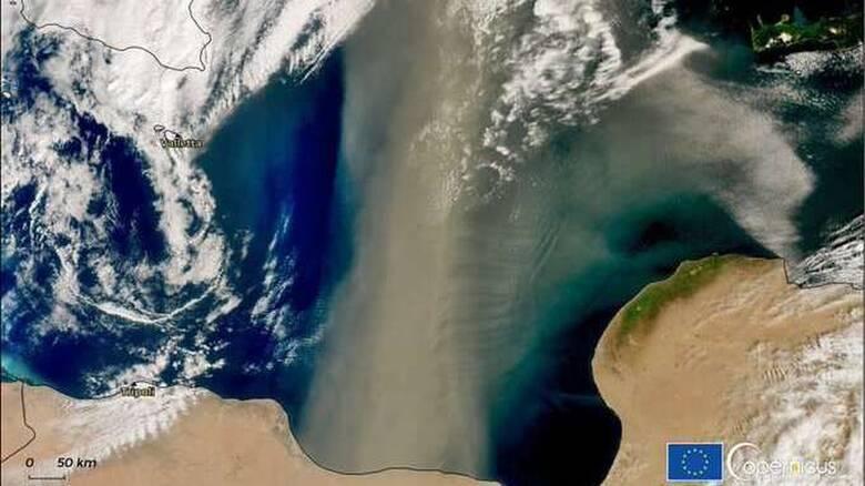 Πελώριο σύννεφο σκόνης 800 χιλιομέτρων «καθ' οδόν» από την Αφρική προς την Ελλάδα