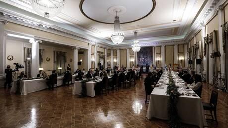 Επίσημο δείπνο στο Προεδρικό Μέγαρο - Τα μηνύματα των υψηλών προσκεκλημένων