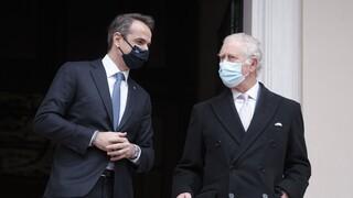 Στο Μέγαρο Μαξίμου ο Πρίγκηπας της Ουαλίας Κάρολος και η Δούκισσα της Κορνουάλης Καμίλα