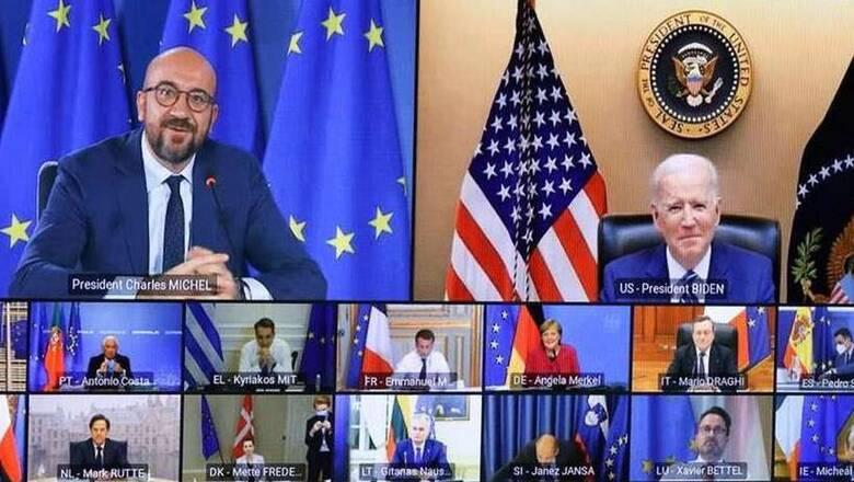 «Επίσημη πρώτη» Μπάιντεν με τους Ευρωπαίους ηγέτες
