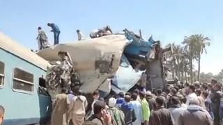Τραγωδία στην Αίγυπτο: Δεκάδες νεκροί και τραυματίες έπειτα από σύγκρουση τρένων