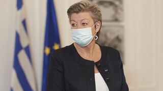 Συνάντηση της  Σοφίας Βούλτεψη με την επίτροπο της ΕΕ Ίλβα Γιόχανσον