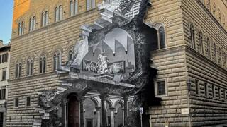 «Η Πληγή»: Ένα συμβολικό έργο του καλλιτέχνη δρόμου JR στο Palazzo Strozzi της Φλωρεντίας