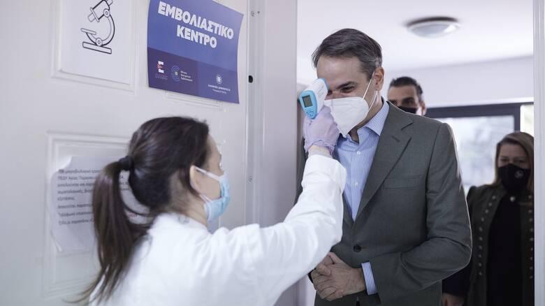 Μητσοτάκης: Μέχρι αρχές Μαΐου θα έχουμε εμβολιάσει όλους τους συμπολίτες μας άνω των 60
