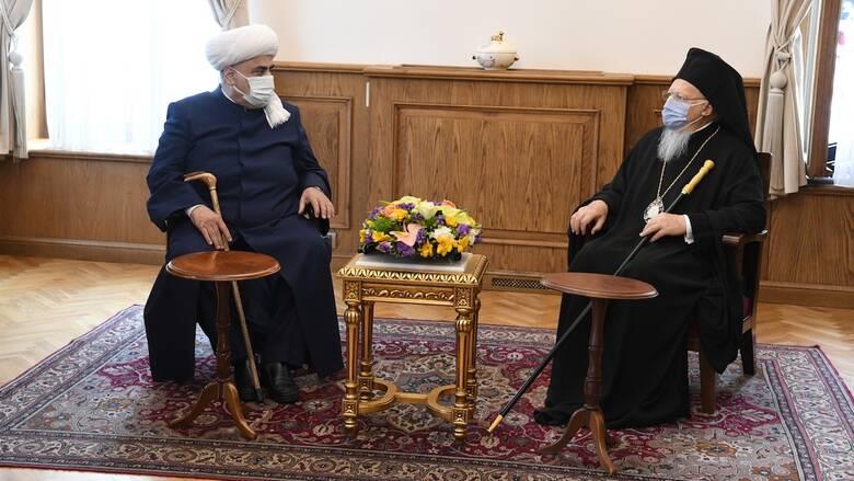 Το Οικουμενικό Πατριαρχείο επισκέφθηκε ο Μεγάλος Μουφτής του Καυκάσου