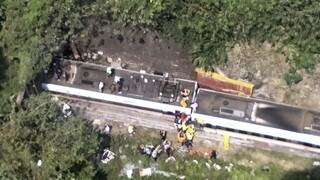 Εκτροχιασμός τρένου μέσα σε τούνελ στην Ταϊβάν - Δεκάδες νεκροί και τραυματίες