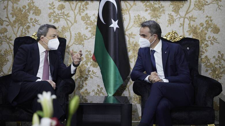 Επαφές Μητσοτάκη - Ντράγκι στην Λιβύη: Στο επίκεντρο ΑΟΖ, μεταναστευτικό και Ταμείο Ανάκαμψης