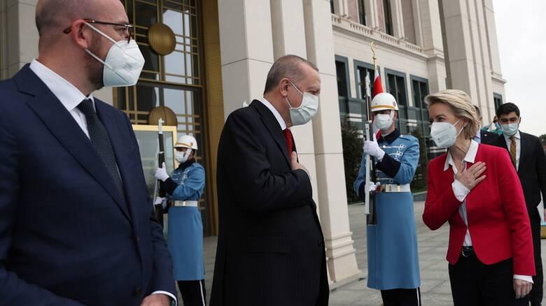 Στην Τουρκία Μισέλ και Φον ντερ Λάιεν:  Η ΕΕ θέλει σταθερότητα και ασφάλεια στην Ανατολική Μεσόγειο