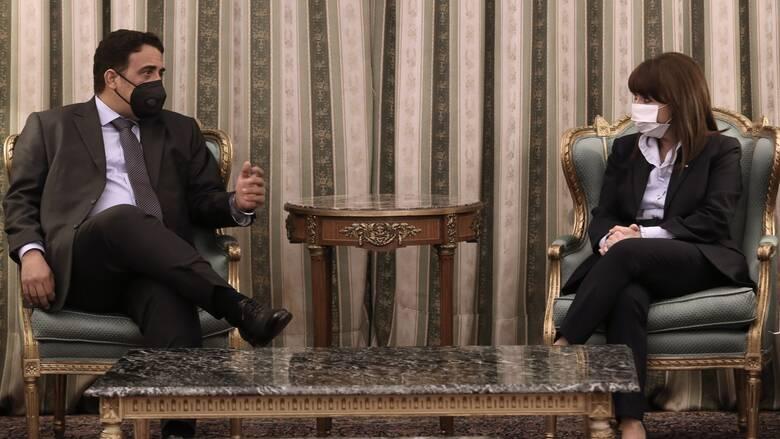 Σακελλαροπούλου σε Λίβυο Πρόεδρο: Η Λιβύη θα βρει στην Ελλάδα έναν ειλικρινή φίλο