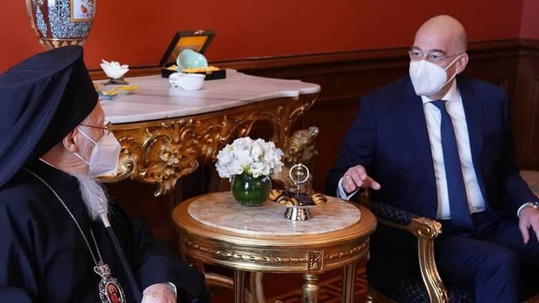 Συνάντηση Δένδια με Οικουμενικό Πατριάρχη στην Κωνσταντινούπολη