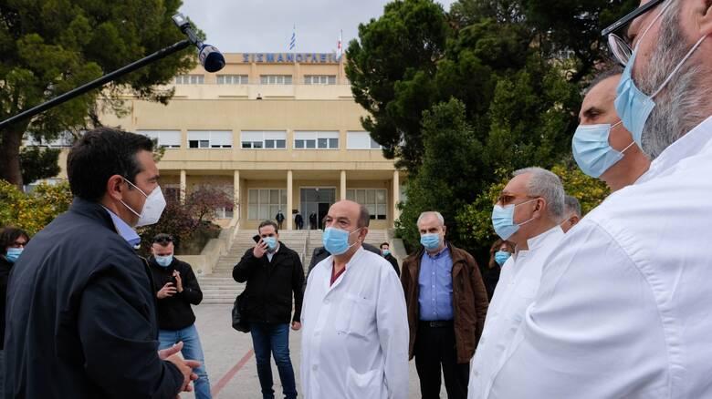 Τσίπρας στο Σισμανόγλειο: Η κατάσταση στα νοσοκομεία είναι δραματική