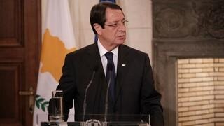 Αναστασιάδης: Η δημιουργία δύο κρατών δεν έχει θέση στο Κυπριακό
