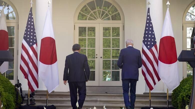 «Μέτωπο» ΗΠΑ-Ιαπωνίας κατά Κίνας μετά τη συνάντηση Μπάιντεν - Σούγκα