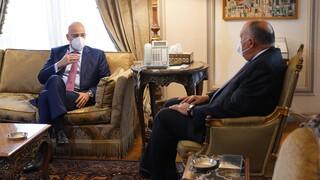 Η Λιβύη στο επίκεντρο της συνάντηση Δένδια - Σούκρι στο Κάιρο