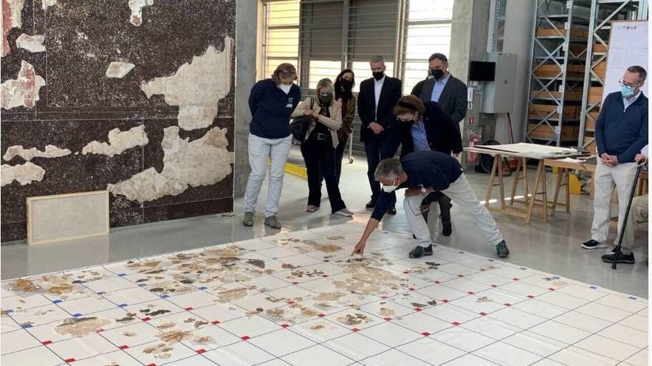 Κόρινθος: Αποκατάσταση ρωμαϊκών τοιχογραφιών στις αποθήκες της ΑΣΚΣ