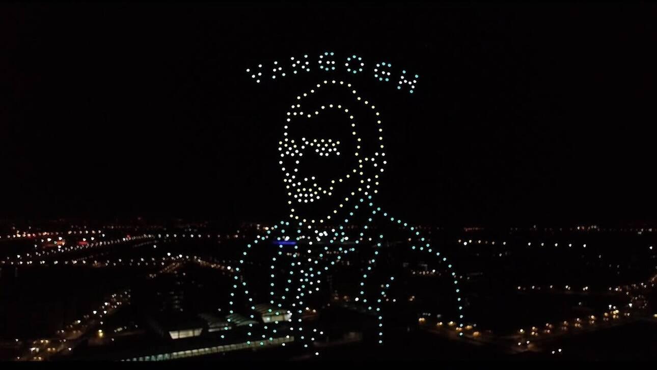 «Φόρος τιμής στον Βαν Γκογκ» από drones στον κινεζικό ουρανό - Έσπασαν παγκόσμιο ρεκόρ