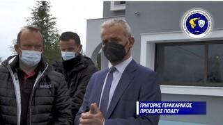 Προσφορά οικίσκων της Π.Ο.ΑΣ.Υ. στους σεισμόπληκτους Τυρνάβου - Ελασσόνας