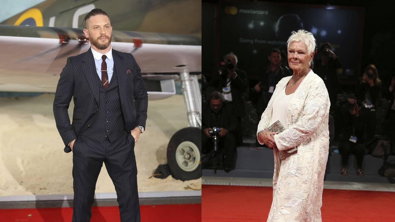Τομ Χάρντι και Τζούντι Ντετς οι κορυφαίοι Βρετανοί ηθοποιοί του 21ου αιώνα, σύμφωνα με έρευνα