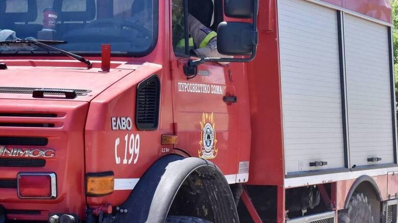 Φωτιά σε φορτηγό στην Εθνική: Έκλεισε η Αθηνών - Λαμίας
