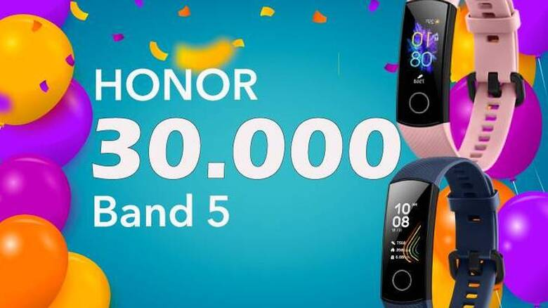 Honor: Πωλήσεις ρεκόρ για το wearable Honor Band 5 στην Ελλάδα
