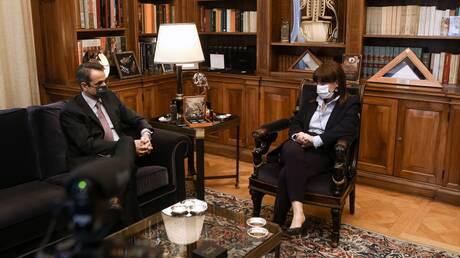 Συνάντηση Σακελλαροπούλου - Μητσοτάκη στο Προεδρικό Μέγαρο