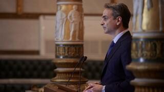 Ο πρωθυπουργός στην απονομή του βραβείου «Λόρδος Βύρων» στον Τζον Κέρι