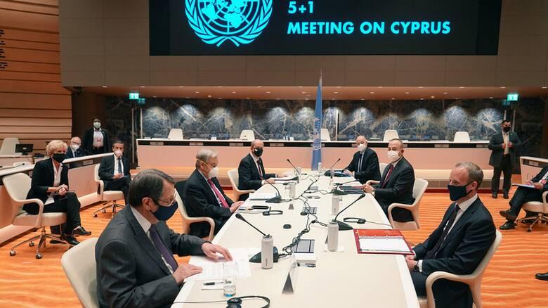 Πενταμερής για Κυπριακό: Ολοκληρώνονται οι διαβουλεύσεις σε κλίμα απογοήτευσης