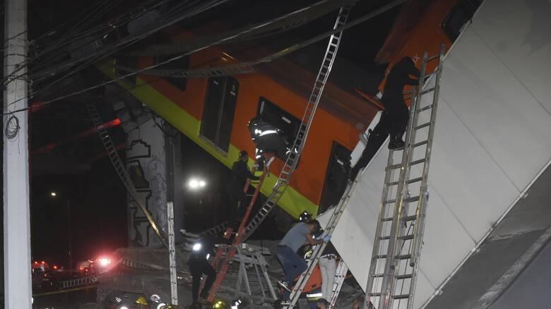 Τραγικό δυστύχημα στο Μεξικό: Γέφυρα του Μετρό κατέρρευσε πάνω σε δρόμο – 20 νεκροί
