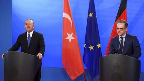Ελληνοτουρκικά και Κυπριακό στη συνάντηση Μάας - Τσαβούσογλου στο Βερολίνο