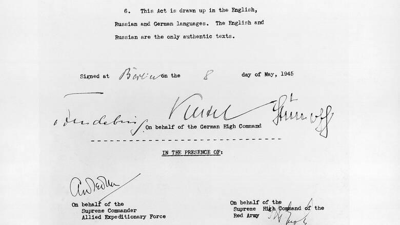 8 Μαΐου 1945: Η συνθηκολόγηση που άργησε δύο χρόνια - Μια «καθόλου απλή νίκη»