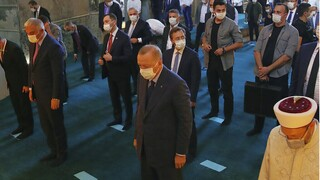 Ερντογάν κατά Ισραήλ και προσευχή από τους μιναρέδες της Αγίας Σοφίας για την Ιερουσαλήμ