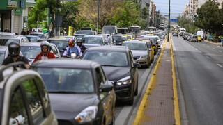 Αυξημένη η κίνηση στο κέντρο της Αθήνας