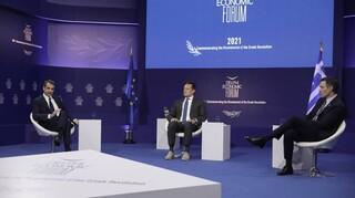 Οικονομικό Φόρουμ Δελφών: Πράσινο Πιστοποιητικό και Ταμείο Ανάκαμψης στη συζήτηση Μητσοτάκη-Σάντσεθ